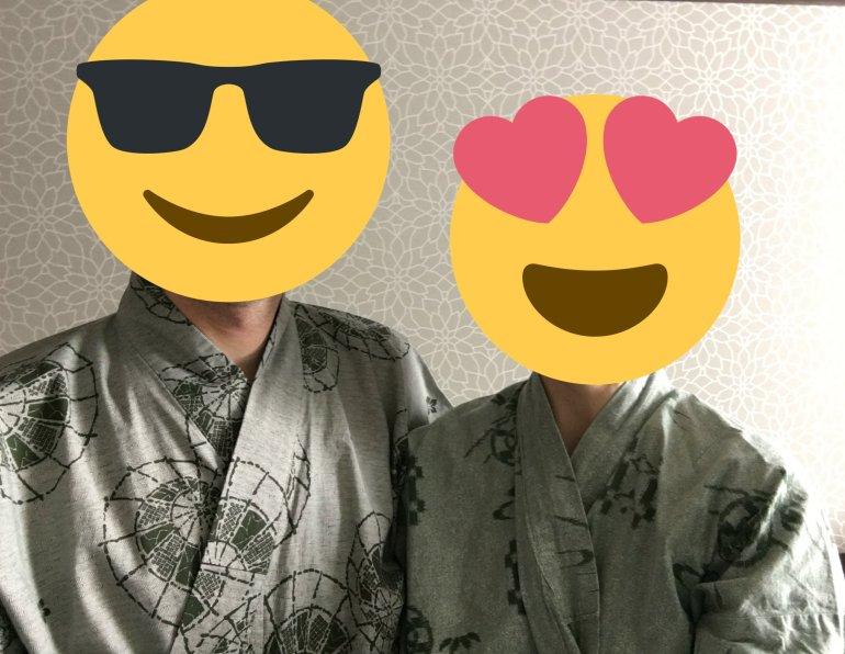 Enjoying the traditional yukata (robes) in Japan