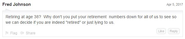 Retirement Police! This troll thinks he gets to decide whether we're retiring or not! Ha!