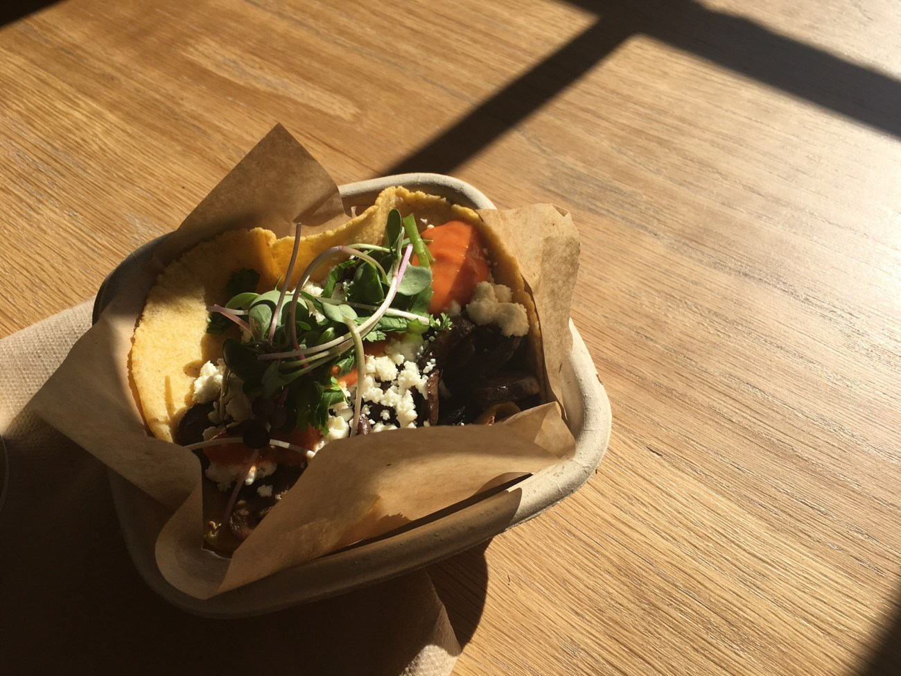tacos in afternoon light