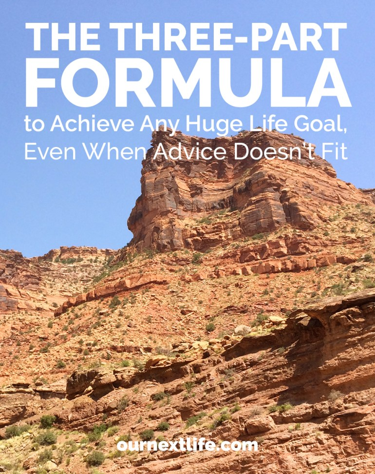 The Three-Part Formula for Success That Works for All Major Life Goals Including Early Retirement or Financial Independence!
