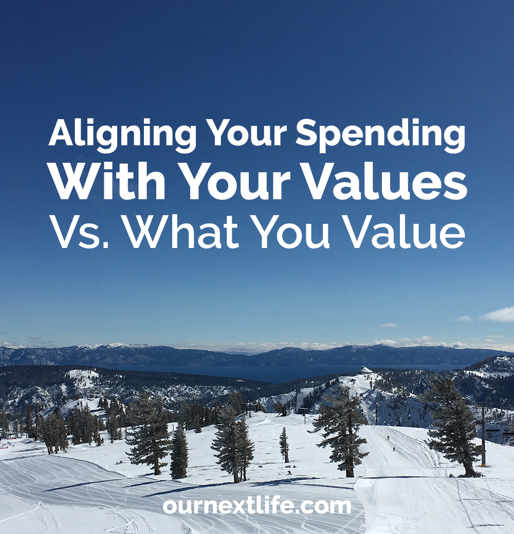 Aligning your spending with your values vs. what you value // Consider whether your spending supports only what adds value to your life vs. supporting your personal values, adding value to others' lives.