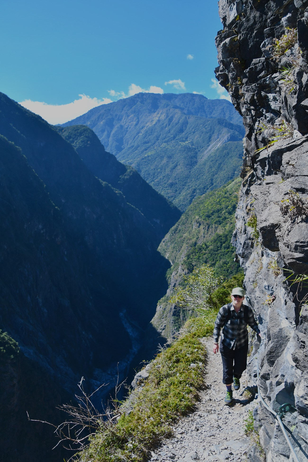 Tanja Hester, author of Work Optional and Our Next Life, on the Jhuilu Old Trail in Taroko Gorge, Taiwan