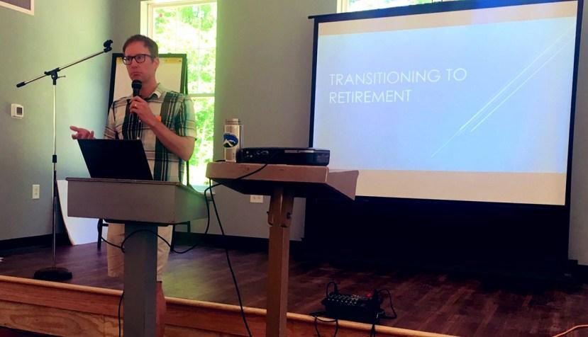 Mark presenting at CampFI