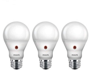 A picture of three dusk-to-dawn Philips LEDs