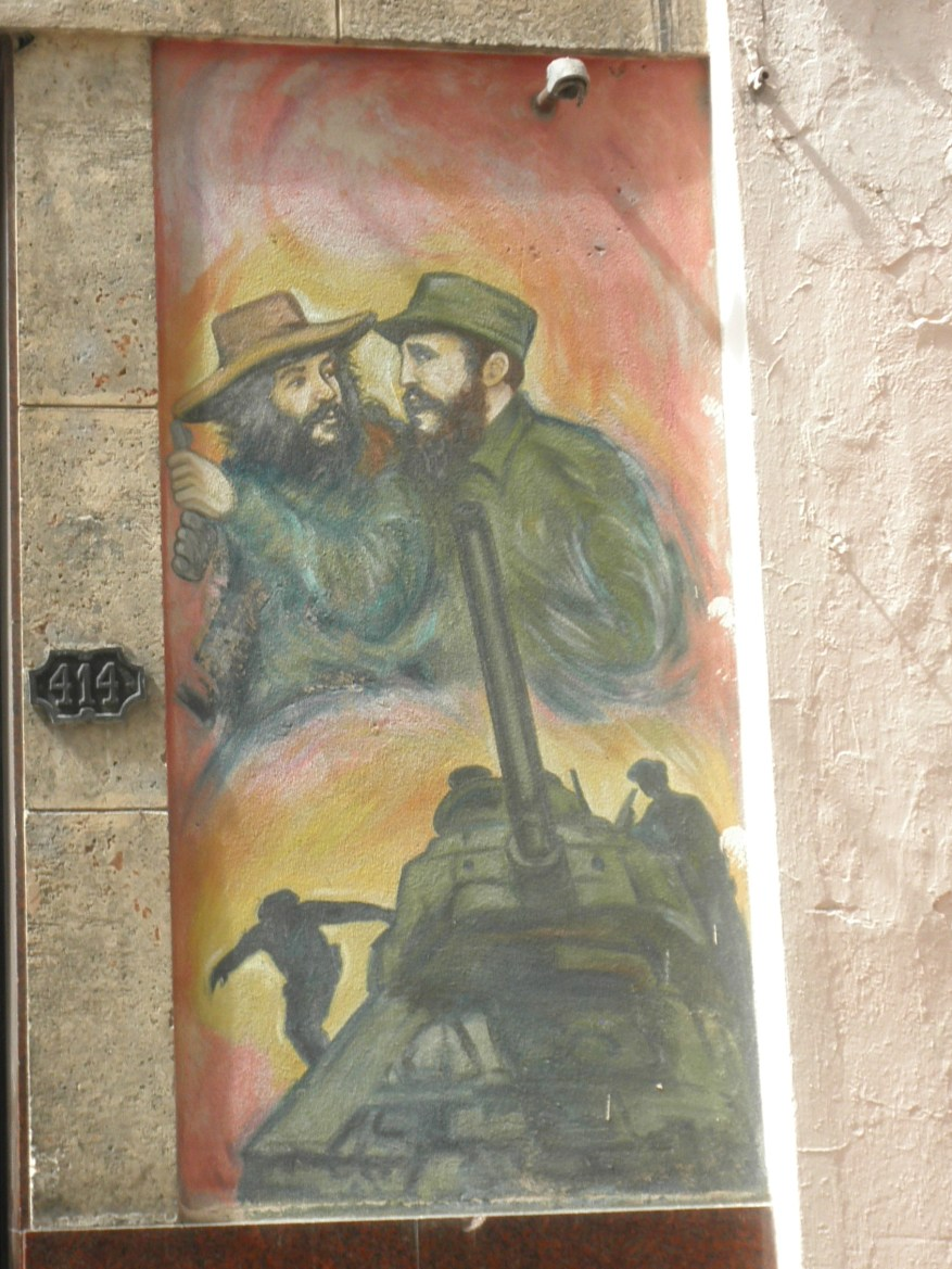 Mural outside Young Communist League office