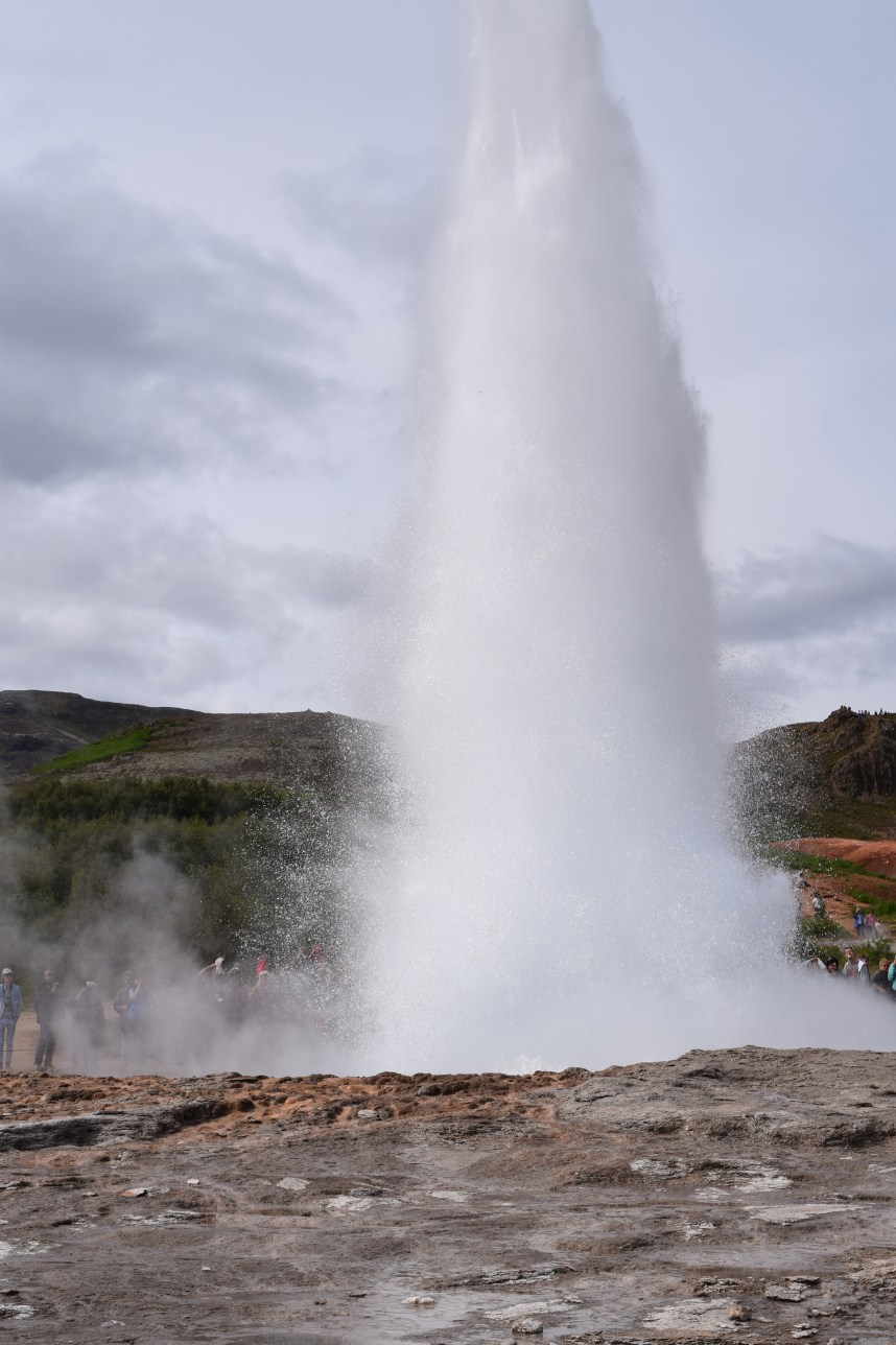 Strokkur is now the main geyser and erupts every 3 or 4 minutes
