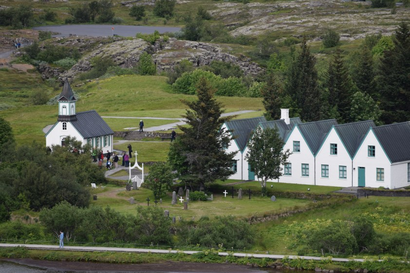 The church and other historic buildings at Thingvellir