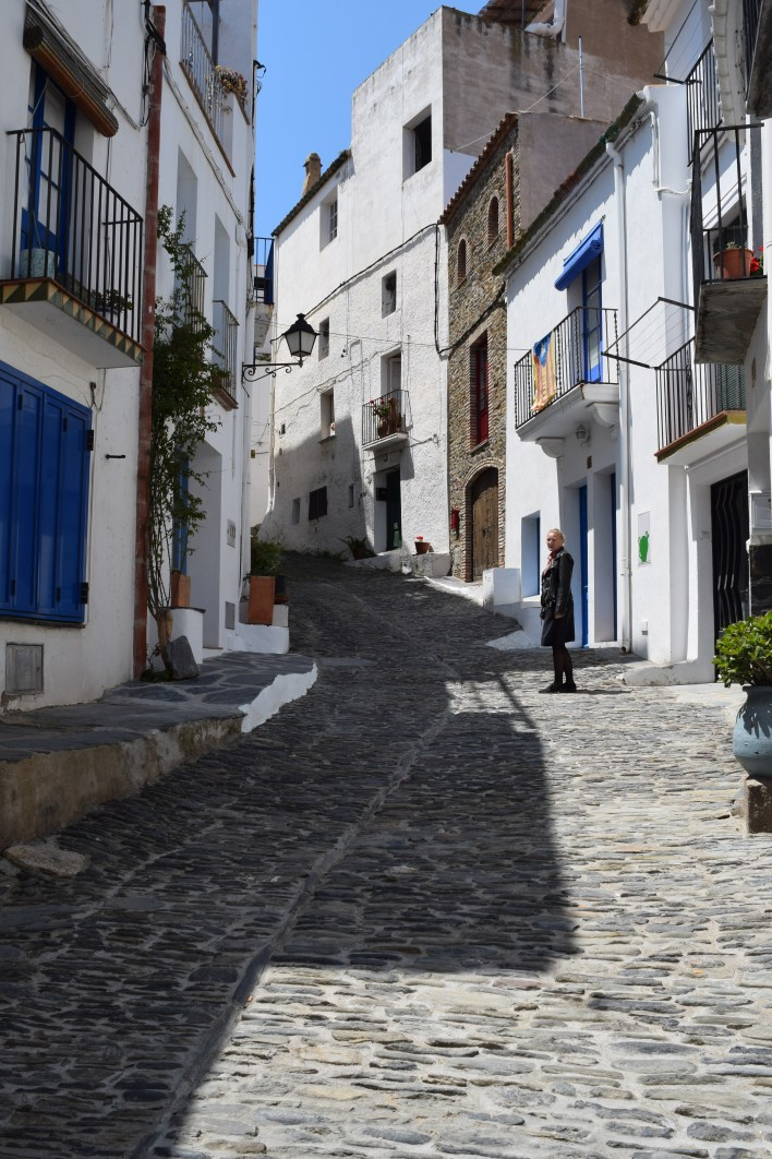 White buildings with blue doors are the norm in Cadaques