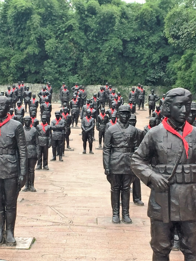 Heroes of China Square. More than 200 larger than life-size statues of heroes of the anti-Japanese War 1931-1945