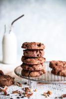 gluten free, egg free, dairy free, gluten free biscuit recipe, vegan chocolate biscuits, chocolate pecan biscuits, choc pecan biscuits, vegan snack recipes