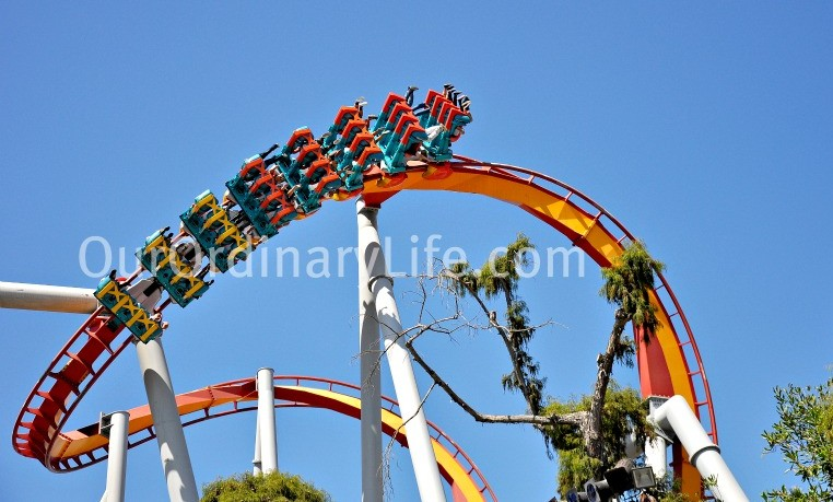Silver Bullet ride at Knotts Berry Farm
