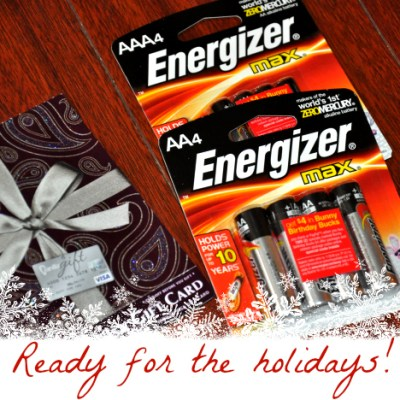 Be Holiday Ready With Energizer – Giveaway