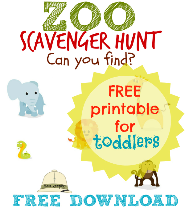 zoo scavenger hunt for toddlers