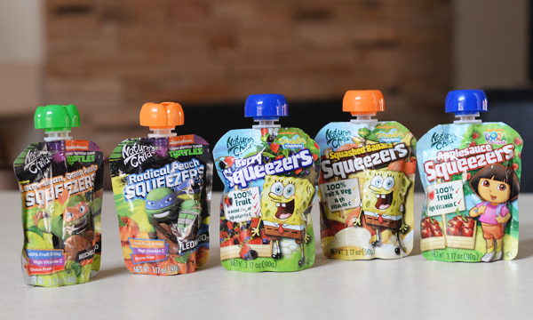 Nature's ChildTM Fruit and Vegetables Pouches are the Perfect Snack for Kids On-The-Go