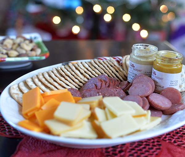 hickory farms holiday platter