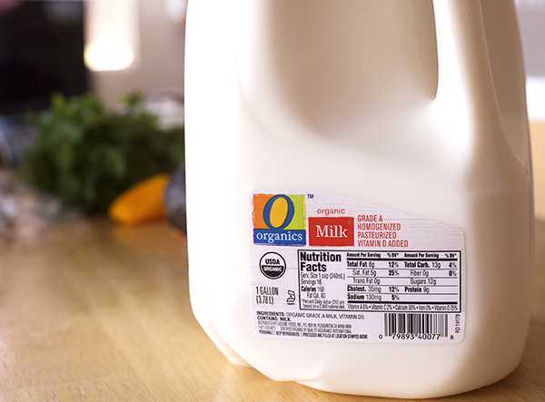 Organic Milk gallon