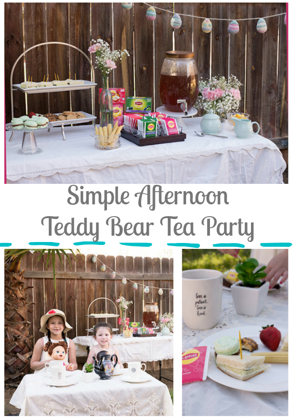 afternoon teddy bear tea party