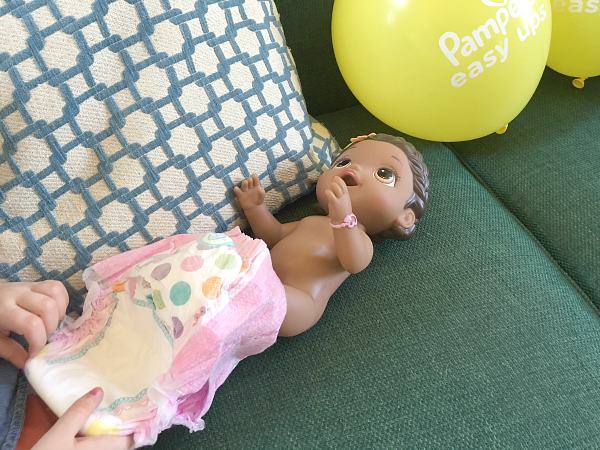 pampers party dress up doll