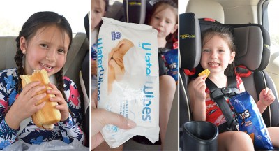 WaterWipes water towels eating in car chemical free baby wipe fruit extract