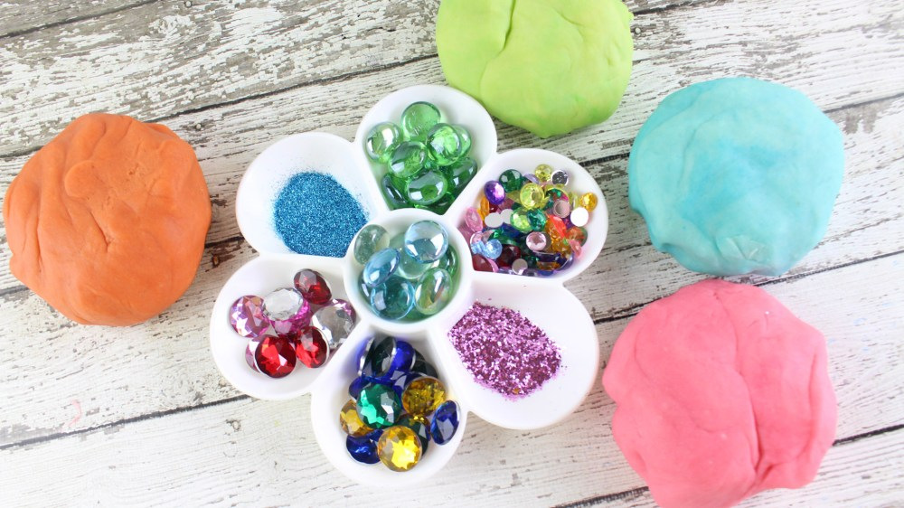 diy glitter play doh