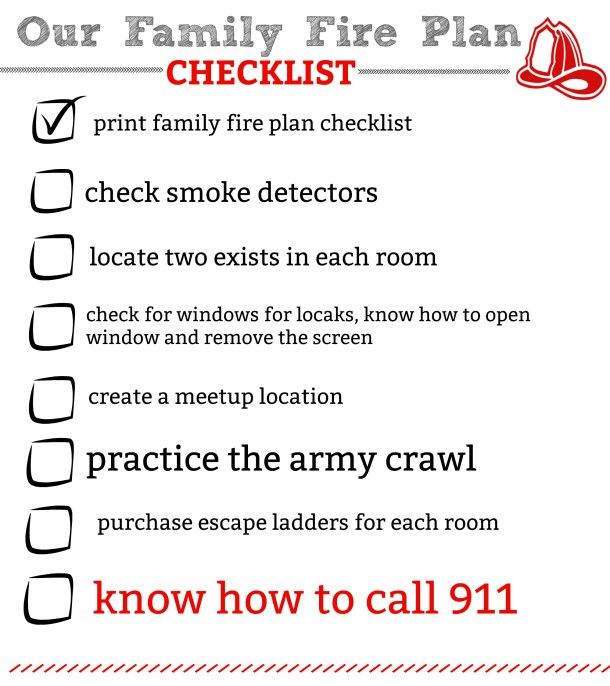 family fire plan checklist