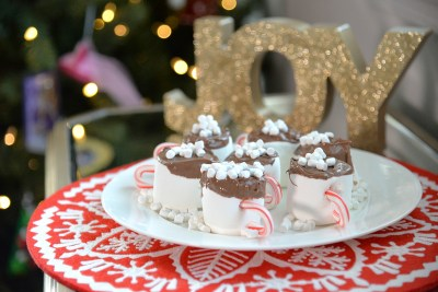 hot cocoa giant marshmallow cups candy cane handles