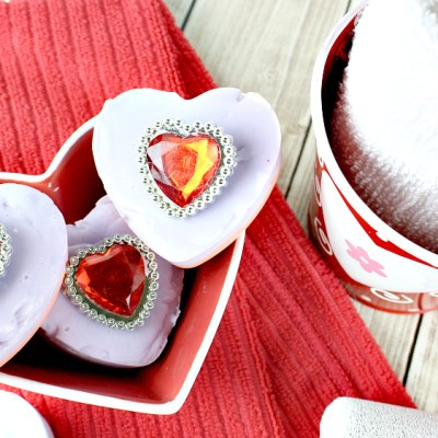DIY Valentine Soap Bars