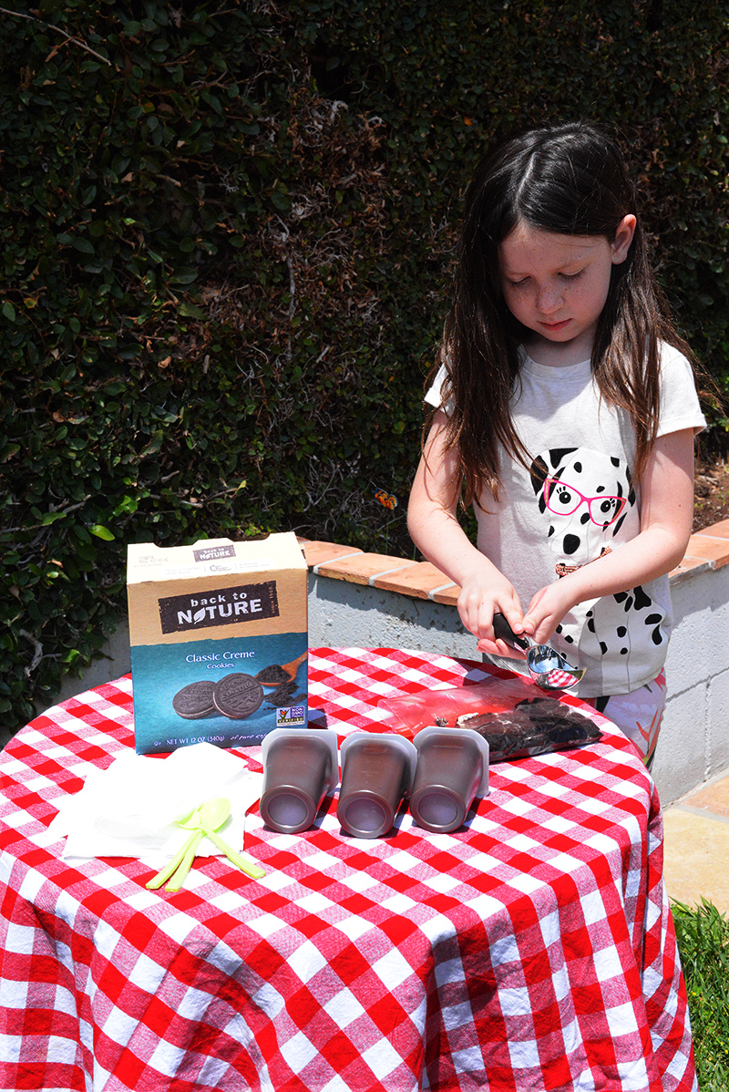 back to nature garden dirt cups pudding cookies activity