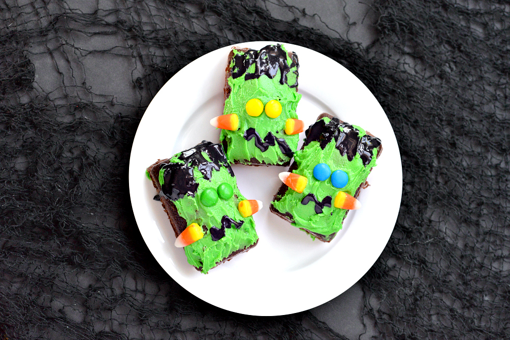 Recipes For Kids - Frankenstein Brownies