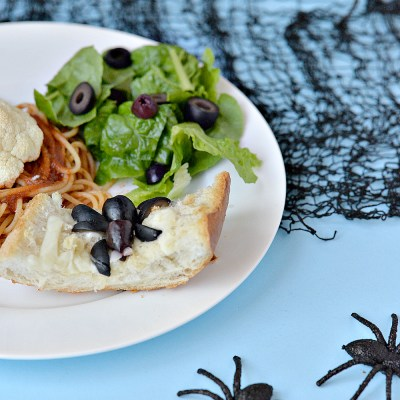 Halloween Inspired Meal Idea – Spider Web Bread