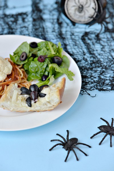 Halloween Inspired Meal Idea - Spider Web Bread