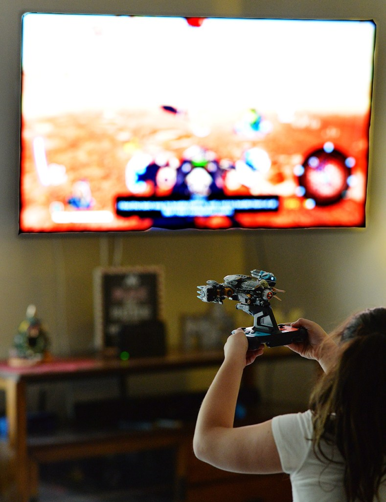 Nintendo Switch Starlink Game playing on TV
