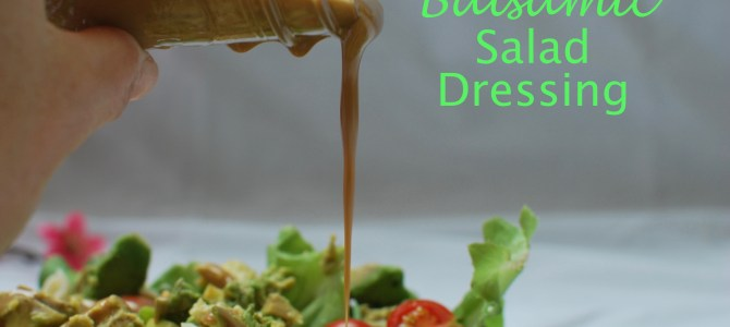 Creamy Balsamic Salad Dressing