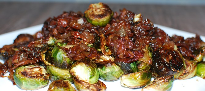 Brussels Sprouts with Bacon and Onion Jam