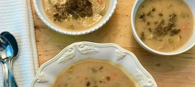 Cauliflower Soup (Paleo, Whole30, AIP option)