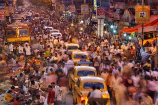 Population Seven Billion Picture: India Crowded Streets