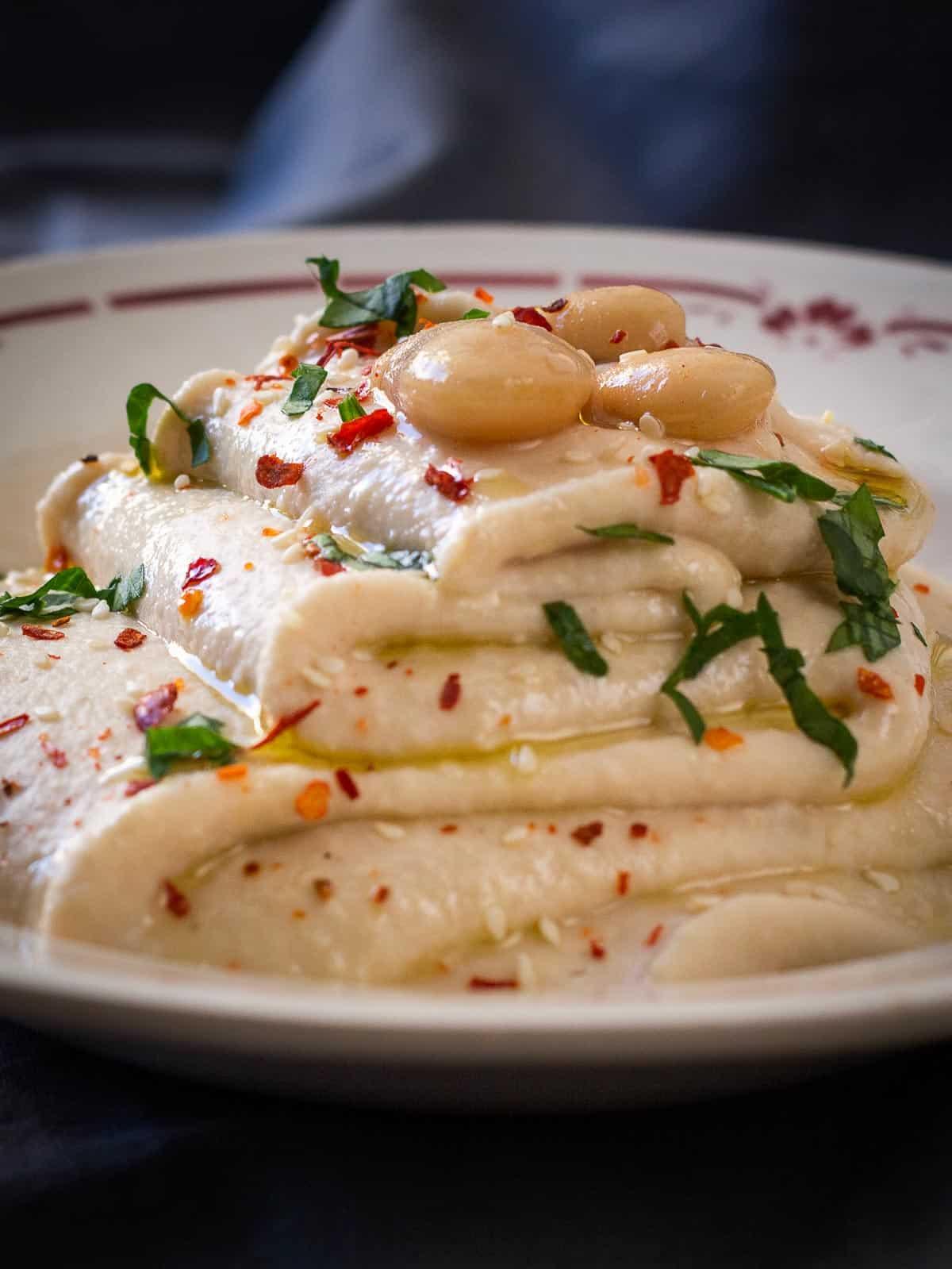white beans hummus