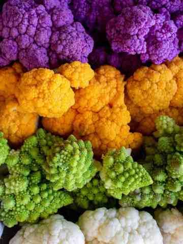 colorido brócoli y coliflores