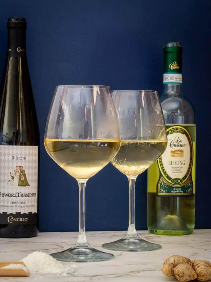 gewurztraminer riesling wine