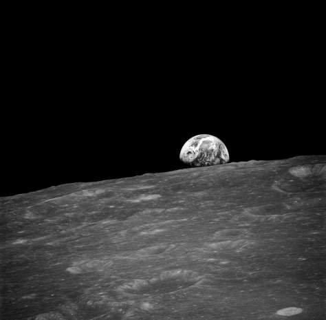 """The first """"earthrise"""" photo"""