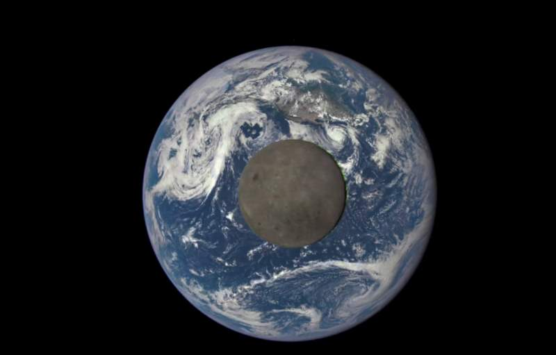 Moon transiting the Earth - EPIC