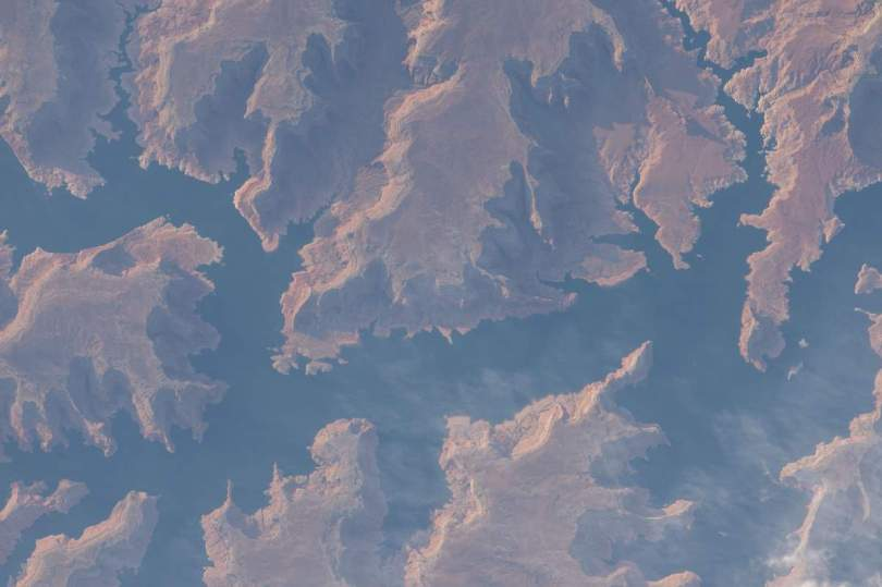 Lake Powell from International Space Station, May 8, 2015