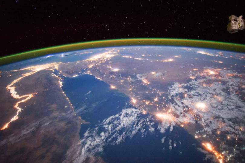 Nile at Night from International Space Station (September 22, 2015)