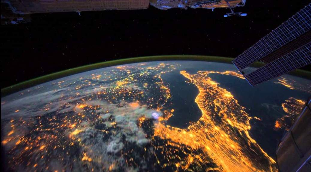 The Earth in the night from space