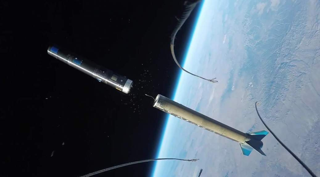 Rocket launch recorded with GoPro