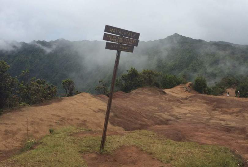 Mount Waialeale, one of the wettest places on Earth