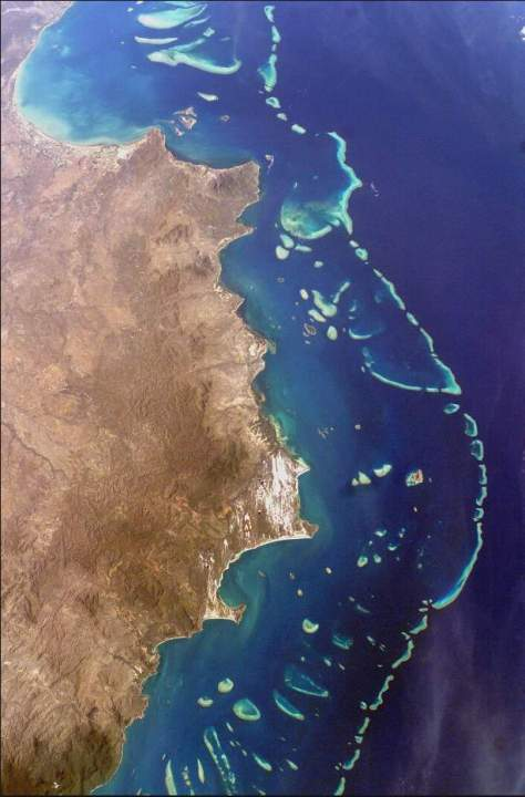 Earth facts - Great Barrier Reef from the space