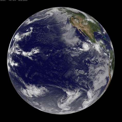 Earth facts - Pacific Ocean from the space