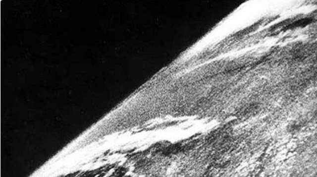 The first photo of Earth from the Space