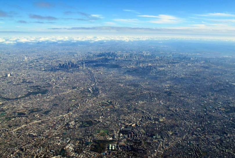An aerial view of Tokyo